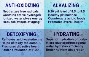 ionized alkaline water properties